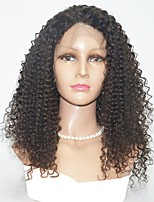 cheap -Human Hair Lace Front Wig Indian Hair Curly Wig 130% Best Quality Mid Length Human Hair Lace Wig
