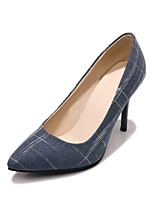 cheap -Unisex Shoes Denim Spring & Summer Basic Pump Heels Stiletto Heel Pointed Toe Black / Brown / Blue