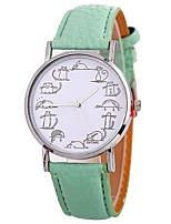 Недорогие -Xu™ Жен. Наручные часы Китайский Творчество / Крупный циферблат / Веселая PU Группа Мода / минималист Черный / Белый / Синий