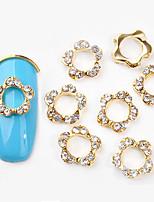 Недорогие -10 pcs Стразы для ногтей Модный дизайн маникюр Маникюр педикюр Инкрустация камнями и кристаллами