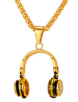 Недорогие -Муж. Длиные Ожерелья с подвесками - Нержавеющая сталь Мода Золотой, Серебряный 55 cm Ожерелье 1шт Назначение Подарок, Повседневные