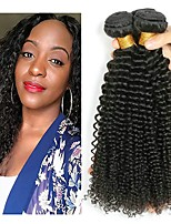 cheap -Indian Hair / Kinky Curly Curly Natural Color Hair Weaves / Human Hair Extensions 3 Bundles 8-28 inch Human Hair Weaves Machine Made Newborn / Best Quality / Hot Sale Natural Black Human Hair