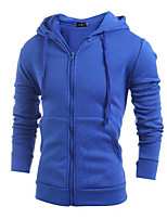 cheap -Men's Street chic Long Sleeve Hoodie - Solid Colored Hooded