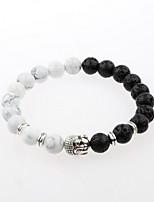 abordables -Homme Bracelets de rive - Plaqué argent simple, Naturel, Mode Bracelet Blanc Pour Cadeau / Quotidien