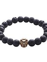 abordables -Homme Bracelets de rive / Bracelet Hologramme / Bracelet - Rétro, Naturel, Mode Bracelet Noir Pour Cadeau / Quotidien