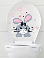 abordables -Autocollants toilettes - Autocollants muraux animaux Animaux Salle de bain