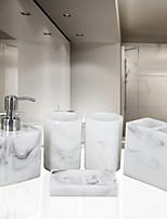 abordables -Set d'Accessoires de Salle de Bain Design nouveau Moderne Résine 5pcs - Salle de  Bain Simple