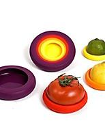 baratos -Utensílios de cozinha Silicone Utensílios de Fruta e Vegetais Multifunções Sala de Jantar e Cozinha tomate / Limão / Cebola 4pçs