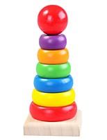 Недорогие -Деревянные пазлы Башня Удобная ручка / Взаимодействие родителей и детей деревянный 8 pcs дошкольный Подарок