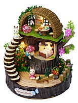 cheap -Dollhouse Exquisite / Music & Light Floral Theme / Romance 1 pcs Pieces Teenager Gift