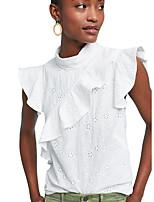Недорогие -женская рубашка - сплошная цветная шея