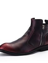 cheap -Men's Microfiber Winter Comfort Boots Black / Red