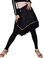 abordables -Danse latine Bas Femme Entraînement Soie Glacée Gland Taille moyenne Jupes