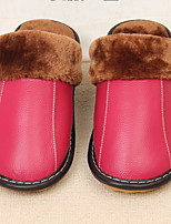 cheap -Women's Slippers Slippers / House Slippers Ordinary Cowhide solid color