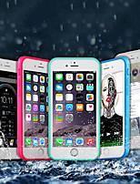 Недорогие -Кейс для Назначение Apple iPhone X / iPhone 8 Plus Водонепроницаемый / Защита от удара Чехол Однотонный Мягкий ТПУ для iPhone X / iPhone 8 Pluss / iPhone 8