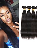 cheap -4 Bundles Malaysian Hair Straight Unprocessed Human Hair / Human Hair Gifts / Cosplay Suits / Natural Color Hair Weaves 8-28 inch Human Hair Weaves Machine Made Fashionable Design / Creative / Sexy
