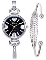 Недорогие -Жен. Нарядные часы / Часы-браслет Китайский Творчество Нержавеющая сталь Группа Кольцеобразный / Элегантный стиль Золотистый
