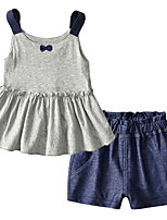 cheap -Baby Girls' Geometric Sleeveless Clothing Set