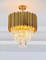 abordables -QIHengZhaoMing 4 lumières Cristal Lustre Lumière d'ambiance 110-120V / 220-240V, Blanc Crème, Ampoule incluse / 10-15㎡