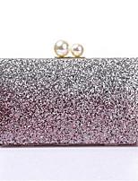 Недорогие -Жен. Мешки PU Вечерняя сумочка Пайетки Цвет шампанского / Серебряный / Пурпурный