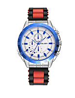 cheap -Women's Wrist Watch Casual Watch Silicone Band Fashion Black / Blue / Red
