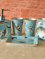 cheap -Bathroom Accessory Set New Design / Cute Modern Ceramic 5pcs - Bathroom Single