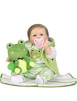 economico -NPKCOLLECTION Bambole Reborn Bambine 24 pollice Occhi azzurri di impianto artificiale Per bambino Da ragazza Regalo