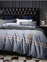 cheap -Duvet Cover Sets Bohemian / Contemporary 100% Cotton / 100% Egyptian Cotton Embroidery 4 Piece