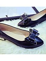 abordables -Mujer Zapatos PU Verano Confort / Pump Básico Tacones Tacón Bajo Negro / Plateado / Rojo