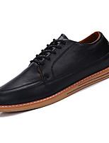 Недорогие -Муж. обувь Искусственное волокно / Полиуретан Осень Удобная обувь Туфли на шнуровке Черный / Серый / Коричневый