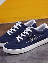 cheap -Men's Canvas Spring Comfort Sneakers Black / Gray / Blue