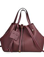 cheap -Women's Bags PU(Polyurethane) Shoulder Bag Zipper Black / Dark Brown / Khaki