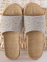 cheap -Men's Slippers Slippers / House Slippers Ordinary Cotton / Polyester solid color