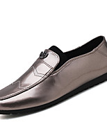 cheap -Men's Shoes Nappa Leather Summer Moccasin Loafers & Slip-Ons Black / Silver