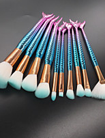 cheap -10-Pack Makeup Brushes Professional Makeup Brush Set / Blush Brush / Eyeshadow Brush Nylon fiber / Fiber Soft / Full Coverage Plastic