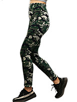 cheap -Women's Daily Basic Legging - Camouflage Mid Waist
