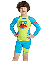 cheap -Boys' Rash Guard Dive Skin Suit UV Sun Protection, Quick Dry, UPF50+ Nylon / Spandex Long Sleeve Swimwear Beach Wear Diving Suit / Sun Shirt Patchwork Swimming / Snorkeling / Water Sports / Stretchy