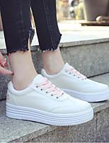 abordables -Mujer Zapatos PU Primavera verano Confort Zapatillas de deporte Tacón Plano Dedo redondo Estampado Animal Negro / Azul / Rosa