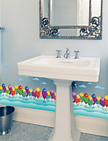 cheap -Decorative Wall Stickers - Plane Wall Stickers Animals / Nautical Bathroom