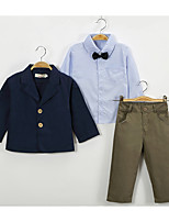 cheap -Kids / Toddler Boys' Solid Colored Long Sleeve Clothing Set
