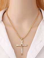 cheap -Men's Pendant Necklace  -  Cross, Faith Rock, Korean Gold, Silver 48 cm Necklace 1pc For Daily
