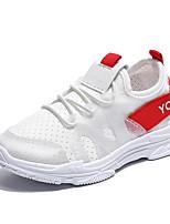 Недорогие -Девочки Обувь Полиуретан Весна лето Удобная обувь Спортивная обувь Для прогулок для Для подростков Белый / Черный / Лозунг