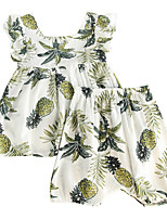 cheap -Baby Girls' Floral Sleeveless Clothing Set
