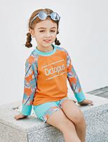cheap -Girls' Rash Guard Dive Skin Suit UV Sun Protection, Quick Dry, Stretch Polyester / Spandex Long Sleeve Swimwear Beach Wear Sun Shirt Swimming / Beach / Water Sports / Stretchy / UPF50+