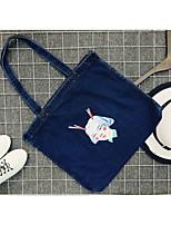 cheap -Unisex Bags Canvas Tote Zipper Blue / White / Black