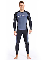cheap -SABOLAY Men's Dive Skin Suit Quick Dry, Breathable Polyester / Spandex / Chinlon Long Sleeve Swimwear Beach Wear Swimwear Swimming / Outdoor Exercise / Watersports