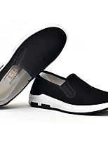 cheap -Men's Shoes Elastic Fabric Summer Comfort Loafers & Slip-Ons Black