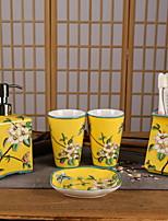 abordables -Set d'Accessoires de Salle de Bain Design nouveau Moderne Céramique 5pcs - Salle de Bain Simple
