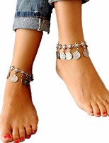 cheap -Anklet - Vintage, Fashion Silver For Holiday / Bikini / Women's