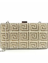 cheap -Women's Bags Satin Evening Bag Pearls Gold / Black / Silver
